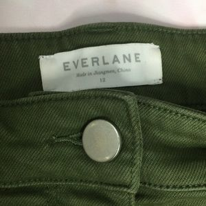Everlane The Wide Leg Pant in Surplus / Olive